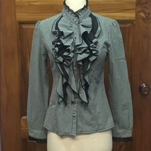 Tops - SALE 3 for $30 Victorian Style Ruffle Blouse